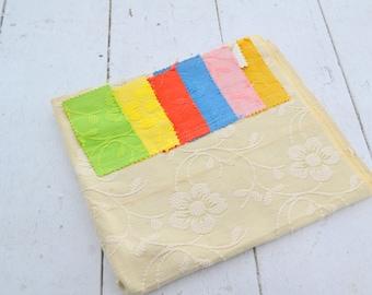 "1970s Schumacher ""Carlisle"" Cotton Damask Fabric Sample"