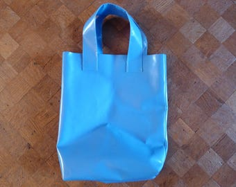 Blue shopper // strong bag // sail // Made in Rotterdam