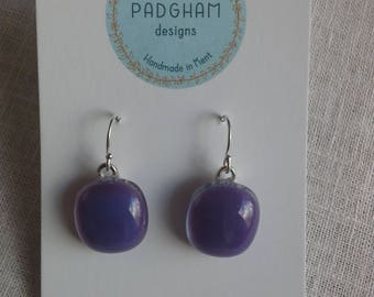Fused glass earrings with Sterling Silver ear wires