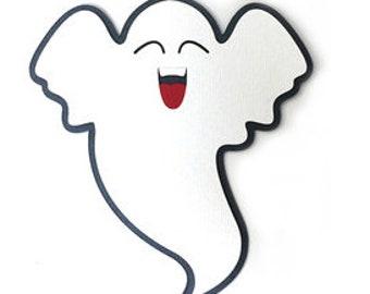 Halloween Ghost Card , Blank inside , Trick or Treat , Kids , Smile , Happy , October 31