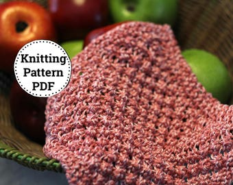 KNITTING PATTERN-Razzle Dazzle, Dishcloth Pattern