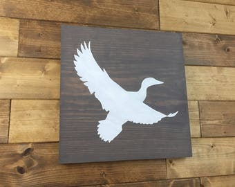 Choose Colors | Duck Sign | Woodland nursery | Duck art | Painted | Duck decor | Cabin decor | Hunting decor | Wildlife Signs