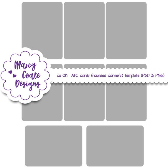 Atc cards template psd png commercial use 25x35 inches atc cards template psd png commercial use 25x35 inches clipping masks round corners artist trading cards altered art collage sheet from publicscrutiny
