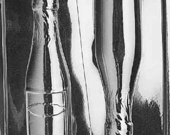 Large Champagne Bottle Chocolate - AO042 - Includes Melting & Chocolate Molding Instructions