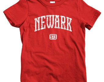 Kids Newark 973 T-shirt - Baby, Toddler, and Youth Sizes - Newark Tee, NJ, New Jersey, Brick City - 4 Colors
