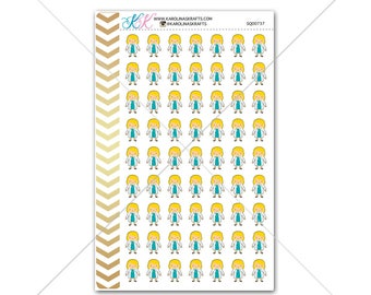 Blonde Girl Doctor Stickers for planner, calendar! Functional planner stickers medical sticker functional sticker nurse sticker #SQ00737