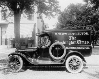 Washington Times Newspaper Truck Photograph (Art Prints available in multiple sizes)