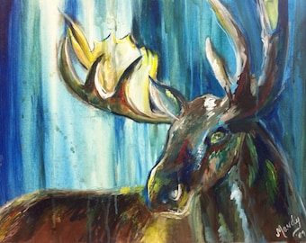 Abstract moose print 8x10