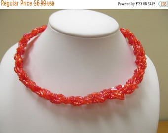 On Sale Orange Glass Beaded Collar Item K # 1499