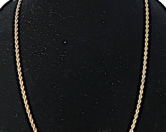 "25"" 14K Gold Rope Chain 22g"