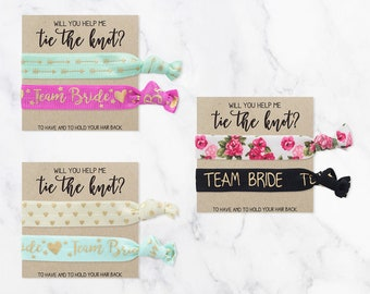 Thank You Hair Tie Favors | Thank you for being my Bridesmaid | Wedding Thank You Gifts | Wedding Hair Ties | Bridesmaid Hair Tie Favors