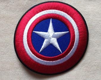 Captain America Super Hero Logo Iron On Patch