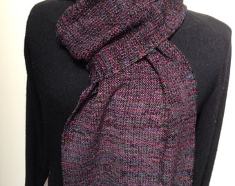 Handwoven Nothern Lights rayon chenille scarf