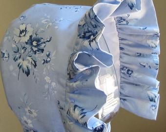 Baby Bonnet- Shabby Chic Blue