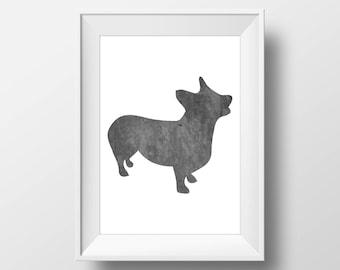 Chalkboard Corgi Print, Corgi Print, Corgi art, Dog decor, Dog lover gift, Corgi Wall Art