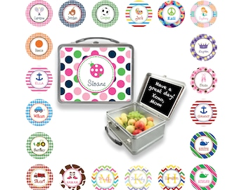 Personalized Metal Lunchbox - Custom lunch box with chalkboard - Monogram lunch box - Design Your Own