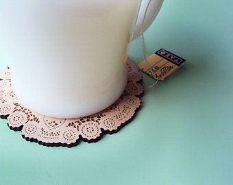 Wood Coaster - Round & Square Doily Coaster