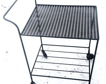 Small Metal Wire Bar/Serving Rolling Cart