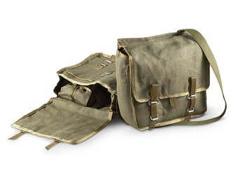 Polish army canvas satchel bread bag carry fishing shoulder military new unissued