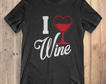 Wine T-shirt: I Love Wine