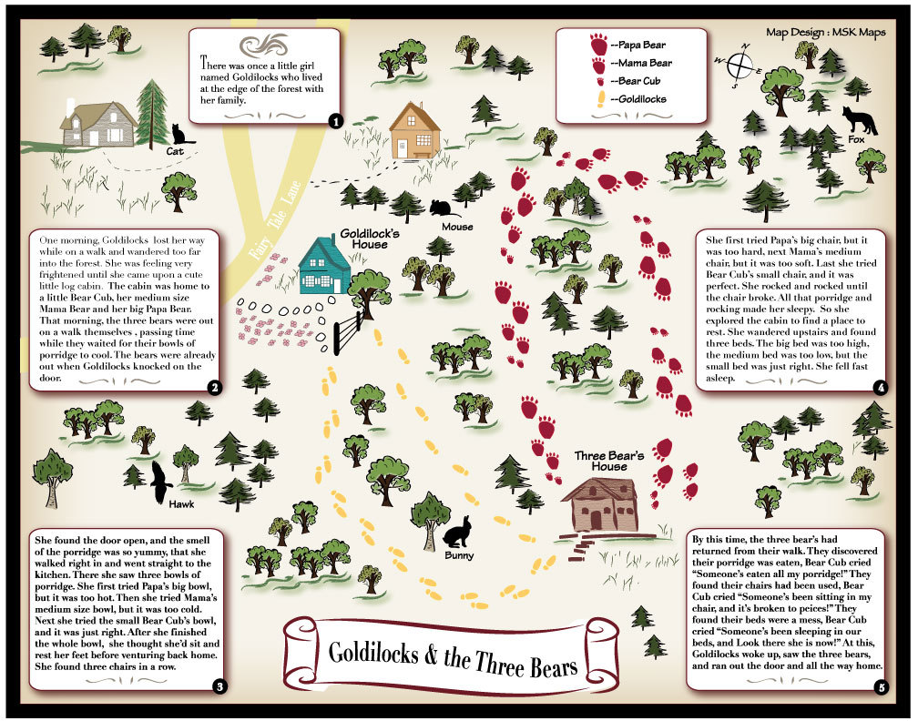 Goldilocks and the three bears fairy tale map publicscrutiny Image collections