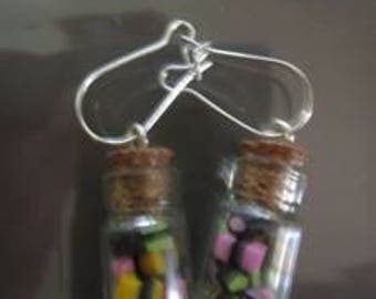 Earrings made of clay, wood, various theme