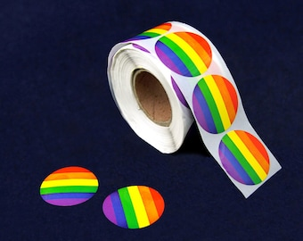 500 Circle Rainbow Stickers (DST-RB)