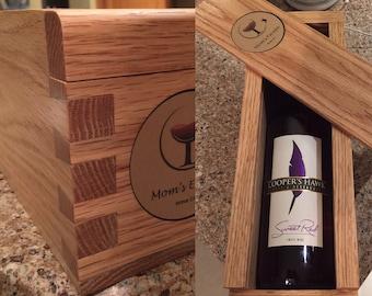 Custom dovetail wine bottle box