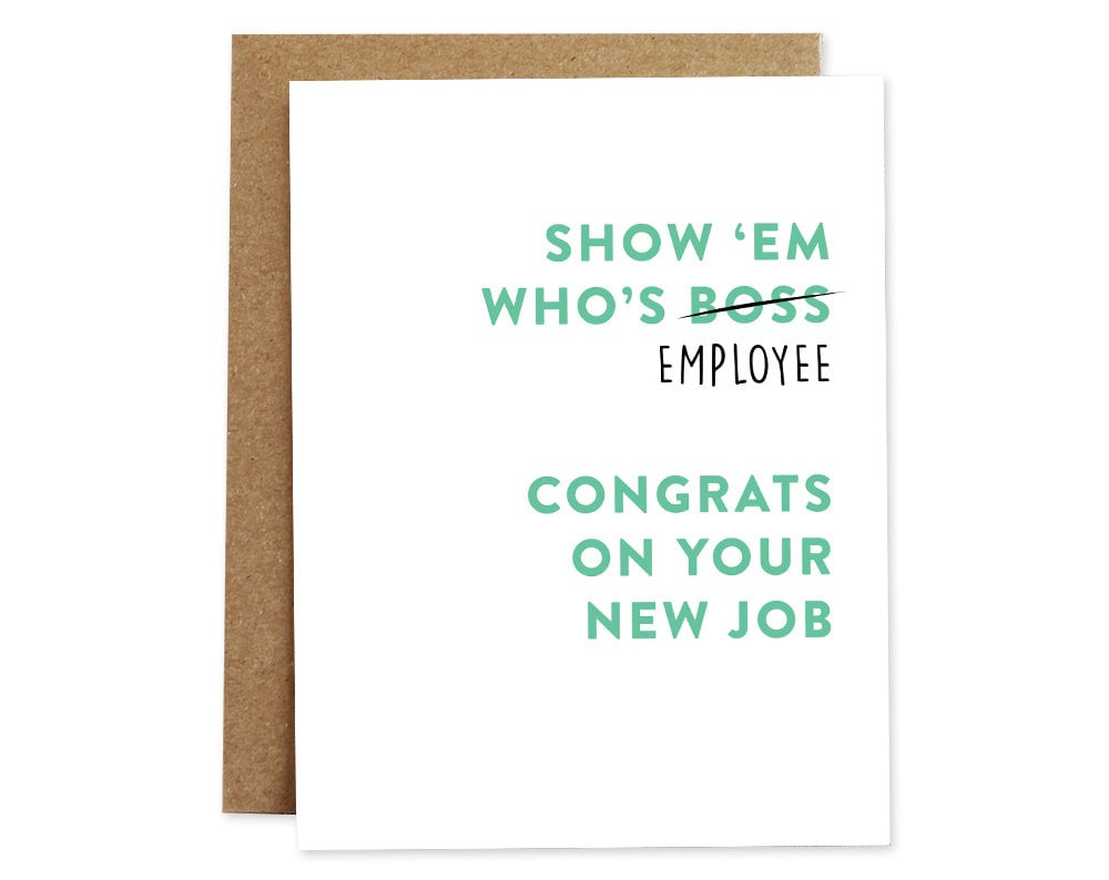 New job card congratulations greeting card employee greeting zoom kristyandbryce Images