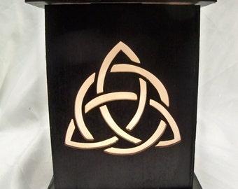 Trinity wood lantern