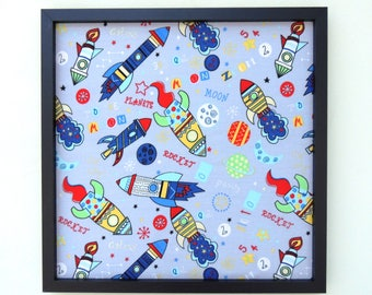 Fabric Covered Magnetic Memo Photo Board