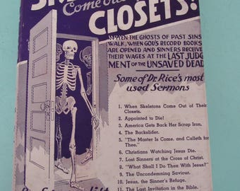When Skeletons Come Out Of the Closets by John R. Rice, D.D. 1943 Free Shipping