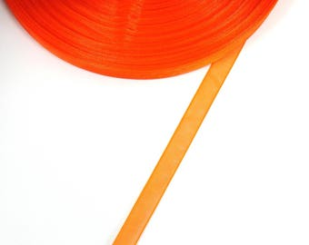 5 meters of 10 mm ORANGE dark organza Ribbon