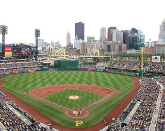 PNC Park Wall Art, Pittsburgh Pirates Canvas, Pirates Stadium, Gift for Him, Pittsburgh Wall Art, Framed Baseball Art Gift, Man Cave,