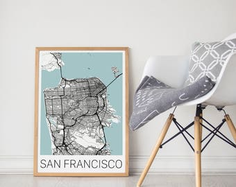 San Francisco Map Poster / San Francisco Print / San Francisco Wall Art/ Travel Poster/ City Map Print/ San Francisco Decor