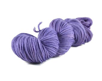 Worsted Yarn, Superwash Merino yarn, hand dyed, worsted weight yarn, wool yarn, 100% Superwash Merino, worsted merino yarn purple - Moonrise