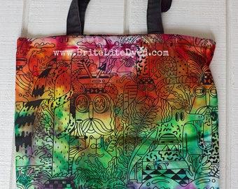 Tote Bag - Tie Dye Tote Bag - Canvas Tote Bag - Tye Dye Tote Bag - Farmers Market bag - Festival Bag - Hippie Bag - Rainbow Bag - Birthday