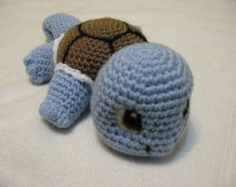 Lazy Squirtle Plush Amigurumi