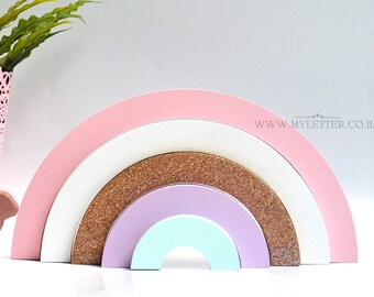Rainbow Nursery | nursery decor | wooden rainbow | Rainbow Nursery Decor | Rainbow Stacker
