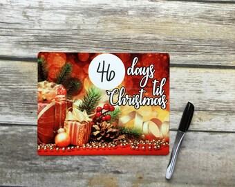 Days til Christmas Dry Erase Board, Days til Christmas Sign
