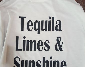 Tequila, Limes, & Sunshine flowy tank top...fun/summertime