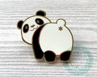 Panda Butt Hard Enamel Pin