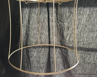 Lamp shade frame etsy 35 off sale vintage drum shade wire frame farmhouse industrial chic craft supply display greentooth Images