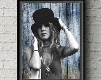 Stevie Nicks Bohemian Decor- Fan Gift  Cool Poster- 1970s Music Gift- Fleetwood Mac- Husband GIFT- Boyfriend Gift
