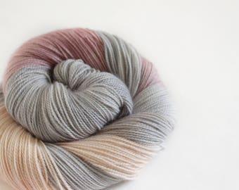 Nine Ladies Dancing - Gosling - 80/10/10 superwash merino/ cashmere/ nylon sock yarn