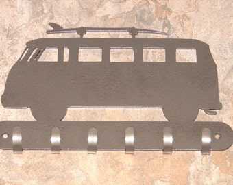 VW Bus KEY RACK Hat Coat Hook Leash Volkswagon van 1