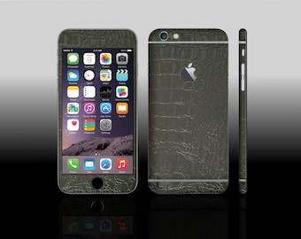 iPhone 6 Plus Black Croc Phone Skin Hyde Sticker
