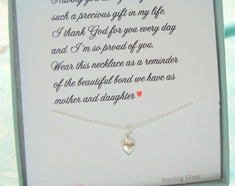 Jewelry for DAUGHTER, from Mom to Daughter, Gift for daughter, Heart necklace