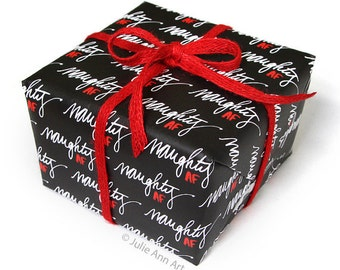 Naughty Wrapping Paper - Christmas Gift Wrap