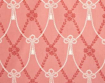 Andover Fabrics Downton Abbey Home Drapery Ties Pink 8233 GE - Victorian Quilting fabric - 4 Yards In Stock